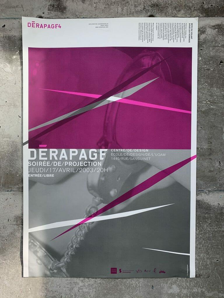 Derapage archive D04 Affiche